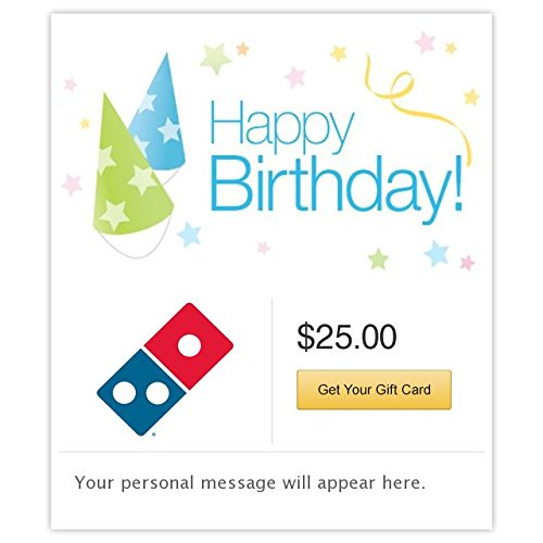 Dominos  Happy Birthday - Hats Gift Cards - E-mail Delivery