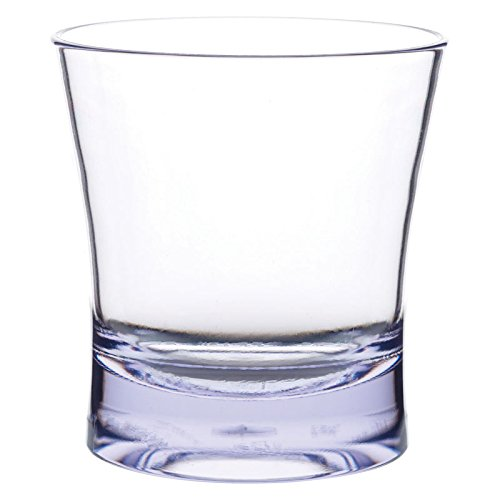 Carlisle 561207 Alibi Heavy-Weight Plastic Double Old Fashioned Glass, 12 oz (Set of - Four Double Old Fashioneds