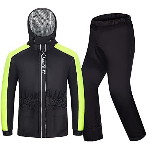Motorrad Kombi – Regenkombi für Männer Frauen, Waterproof Breathable Motorradregenkombi mit reflektierenden Streifen(XL…