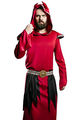 [Adult Unisex Satan Halloween Costume Red Devil Demon Imp Dress up & Role Play (Large/X-Large)] (Good Guys Halloween Costumes)