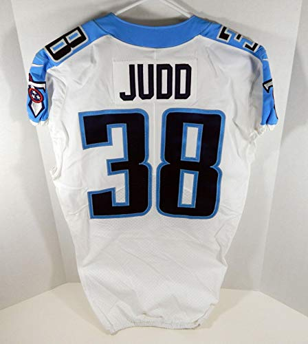 2017 Tennessee Titans Akeem Judd #38 Game Issued White Jersey Titan0017 - Unsigned NFL Game Used Jerseys