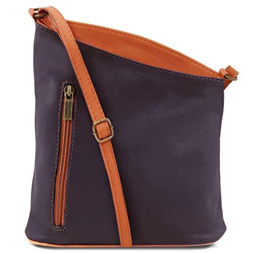 Soft Tuscany Unisex Dark Mini Blue Cross Bag Leather Purple TLBag Leather rqxTW4zftr