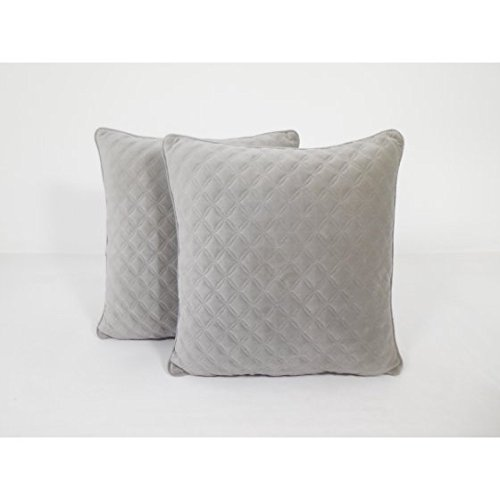 Better Homes and Gardens Quilted Velvet Decorative Throw Pillow, Neutral, 2 pack