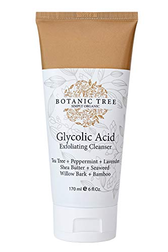 Glycolic Acid Face Wash Exfoliating Cleanser 6Oz w/10% Glycolic Acid- AHA For Wrinkles and Lines Reduction-Acne Face Wash For a Deep Clean-100% Organic Extracts. (The Best Organic Face Wash)