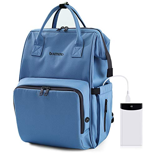 Boumuno Diaper Bag Backpack Baby Changing Nappy Bags Multifunction Waterproof Maternity Large Capacity with USB Charging…