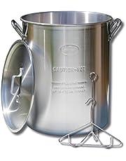 King Kooker 30PK 30-Quart Aluminum Turkey Pot with Lid, Lifting Rack and Hook