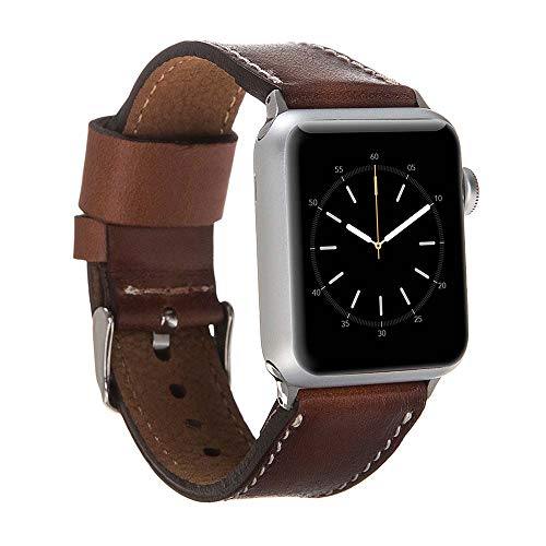 Hardiston Custom Leather Band Compatible Apple Watch |Handmade Genuine Leather Replacement Strap iWatch Series 4 (44mm) / Series 3 Series 2 Series 1 (42mm) | Arrow Collection | Rustic Brown