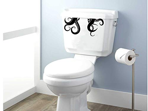 Edvoynlm Kraken Tentacles Toilet Decal, Decal, Sticker, Toilet Sticker, Toilet Decal, Bathroom, Bathroom Decal, Octopus, Kraken, Tentacle (4.7'' x 10'', Set of 2)