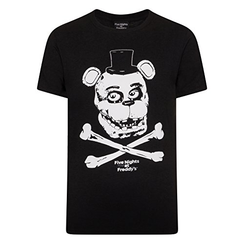 Five Nights at Freddy's Official Gift Mens Crossbones T-Shirt ()
