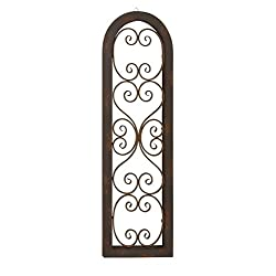 Deco 79 55257 Wood Metal Wall Panel, 15 x 48