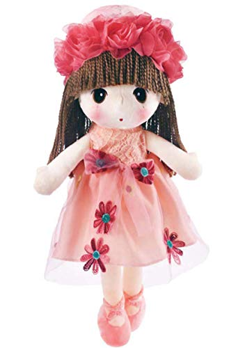 HWD Kawaii Flower Fairy Stuffed Soft Plush Toy Doll Girls Gift , 18 Inch ( Pink ) from HWD