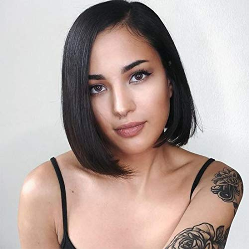 - 10 Inches BOB Style Short Human Hair 13 x 4 Lace Front Wigs With Brazilian Vrigin Hair For Black Women
