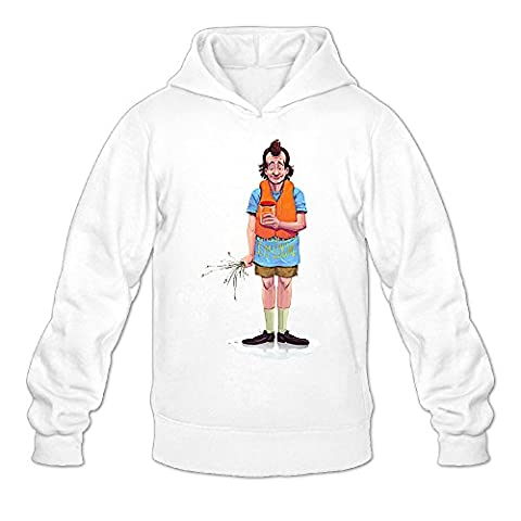 MYKKI What About Bob Character Men's Athletic Hooded Sweatshirt XXL White (Frazier Season 3 Prime Video)