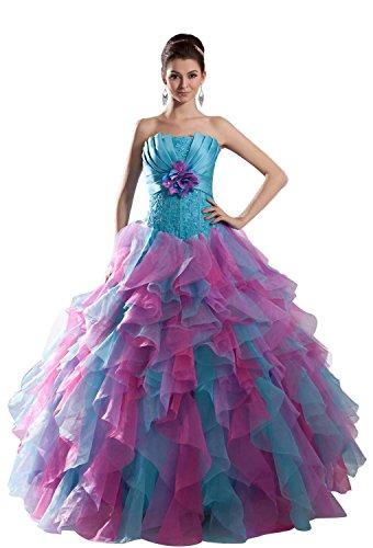 Pronovias Bridal Dresses - Angel Formal Dresses Women's A Line Organza Ruched Wedding Dress(20)
