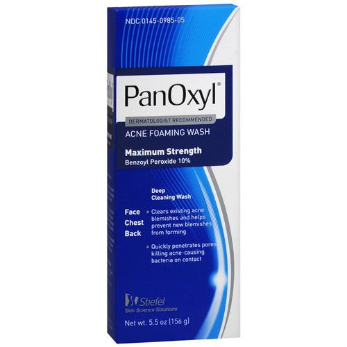 Panoxyl 10 Percent Foaming Acne Wash 5.5 Oz (Pack of 6) Treatment Beauty Skin