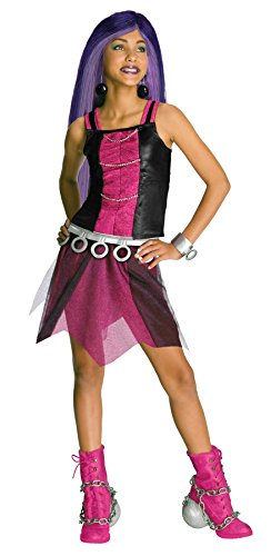 Girls Mh Spectra Vondergeist Kids Child Fancy Dress Party Halloween Costume, S (4-6)