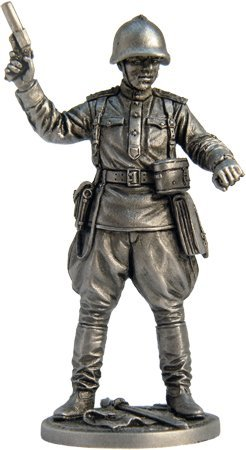 scale 1//32 WWII-10 Captain of the infantry of the Red Army Tin Toy Soldiers Metal Sculpture Miniature Figure Collection 54mm
