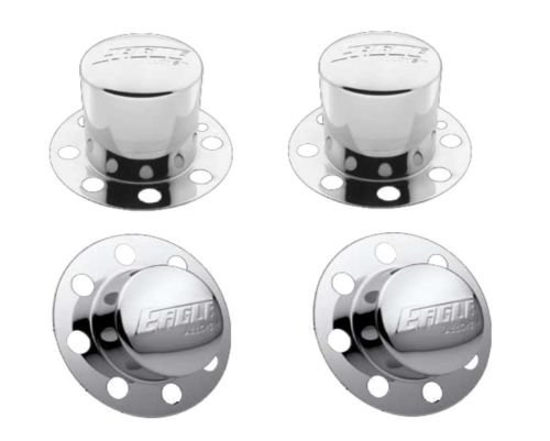 Eagle Dually Wheel Rim Chrome Center Cap Set 3108-06 3109-06