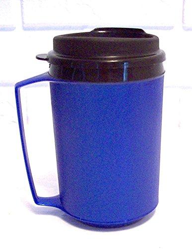 - 12 Oz Foam Insulated Thermoserv Travel Coffee Mug (Blue)