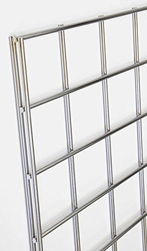 Gridwall Display Systems Panels 4'x8' Merchandise Fixtures Used for Gun Rack Hat Holder Legs Shelf Hook Chrome Lot of 10 NEW