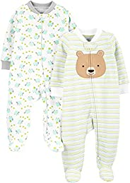 Simple Joys by Carter's Unisex-Baby Neutral 2-Pack Cotton Footed Sleep and