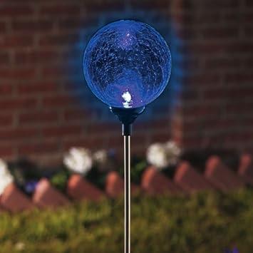 Elegant MOONRAYS Solar Gazing Ball U2013 Garden Lights