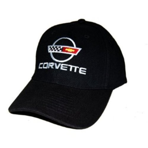 C4 Corvette Black Brushed Twill Hat