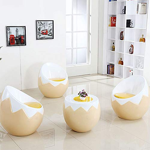 Zxl-btd Simple Modern Plastic Shell Office Eggshell Chair Lazy Personality Single Outdoor Adult Restaurant Creative Designer Chair