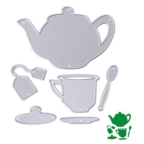 Hunulu Teapot Metal Cutting Dies Stencils Set DIY Scrapbook Album Paper Card Set