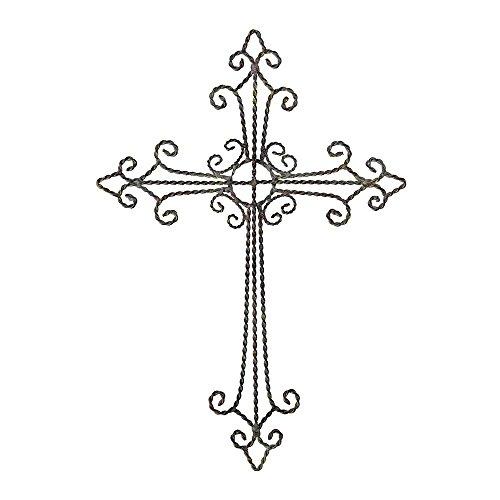 Antique Gray 17 x 12 inch Metal Wall Cross