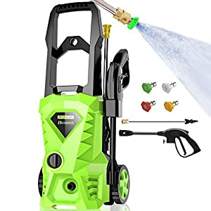 Homdox 2500 PSI,1.5GPM Pressure Washer Electric Power Washer with 4 Nozzles,Longer Cables and Hoses,for Cleaning Cars…