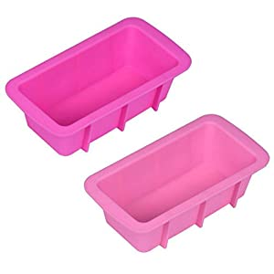 Cake Mold,Prettymenny's Silicone Bread Loaf Non Stick Bakeware Baking Pan Oven Rectangle Mould