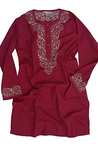AV-Aditi-Pure-Cotton-Hand-Emb-Tunic-Red-18