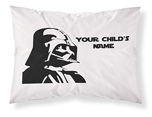 Customizable, Starwars Themed Pillowcase, Featuring Darth Vader! Personalized With Your Child's Name - Perfect Gift For Boys Of All Ages!