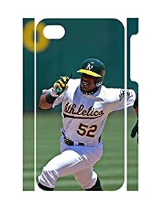 Brave Sports Man Shot Individualized 3D Print High Impact Iphone 4 4S Phone Case