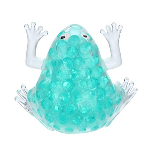 (Sticky Squeeze Frog,lotus.flower 1Pc Squishy Frog Healing Toy Soft Bead Stress Ball Sticky Squeeze Stress Relief Fun Joke Gifts (Mint Green))