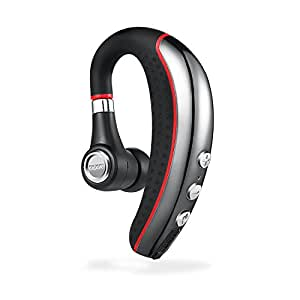 Bluetooth Headset, Aumo Wireless Business Earpieces / Headphones with Microphone Lightweight and Noise Reduction Earbuds/Earphones with Mic Crystal Clear Sound for Business/Truckers/Gym/Running