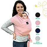 sweetbee My Honey Wrap - Lightweight, Natural and Breathable Baby Carrier Sling for Infants and Babies - 4 Color Options