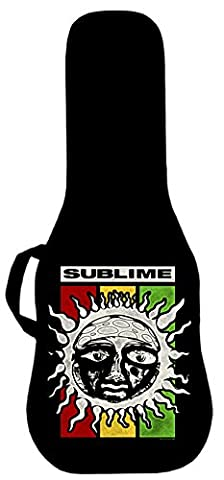 Official Sublime Rasta Sun Logo Electric Guitar Case. Printed panel is interchangeable (Acoustic Guitar Phitz)