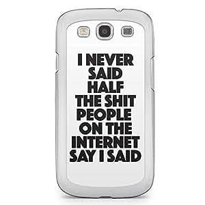Funny Samsung Galaxy S3 Transparent Edge Case - Dont Judge a Phone