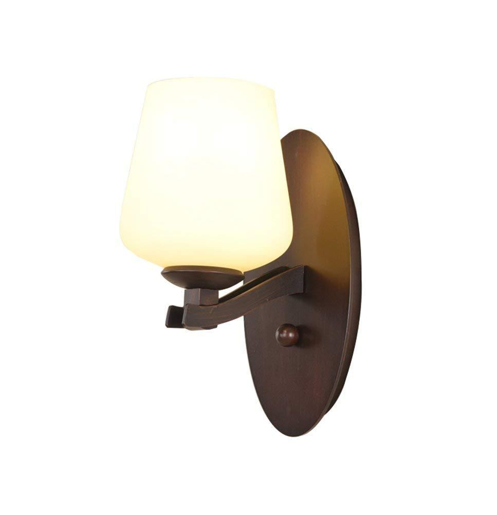 Openry ブラケットライトウォールライト照明アイアンリビングルームベッドルームライトアメリカンヴィンテージヨーロッパシンプル背景壁の装飾寝室用リビングルームの通路に使用 うまく設計された B07SBXWBMZ