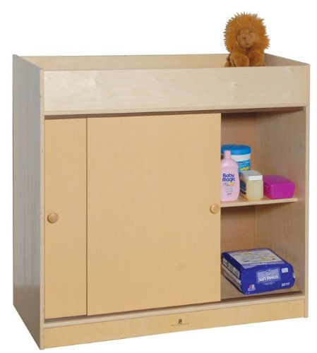 Steffy Wood Products Changing Table with Plywood Doors
