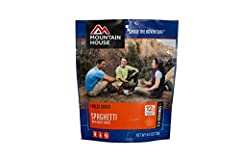 Mountain House Spaghetti with Meat Sauce Now you can enjoy this classic dish wherever you are. Made with spaghetti pasta and real beef in a rich marinara sauce. These compact, lightweight pouch will go where you go. Who is Mountain House? For...