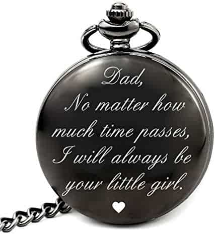 LEVONTA Dad Birthday Gifts from Daughter Unique, Daddy Gift Ideas for Christmas Fathers Day, Dad Pocket Watch (dad Girl Roman)