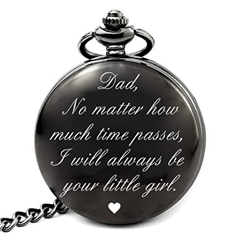 Dad Birthday Gifts from Daughter Unique, Daddy Gift Ideas for Christmas Fathers Day, Dad Pocket Watch (dad Girl ()