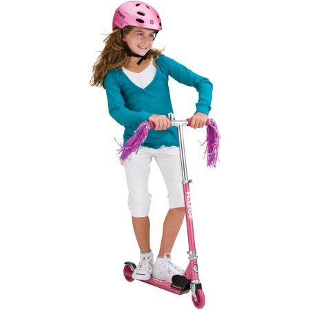 Sweet Pea Kick Scooter (Razor 13012062 A Kick Scooter, 143, Lbs, Sweet Pea, /Pink Color/Razor A scooter folds up for storage or for carrying in a)