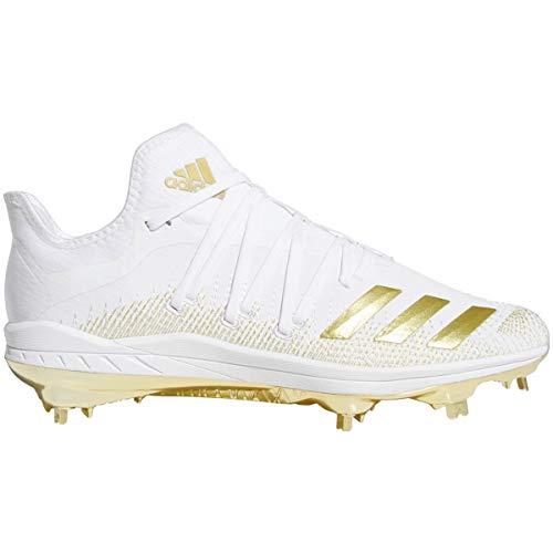 adidas Afterburner 6 Mens Metal Baseball Cleats White/Gold (9.5)