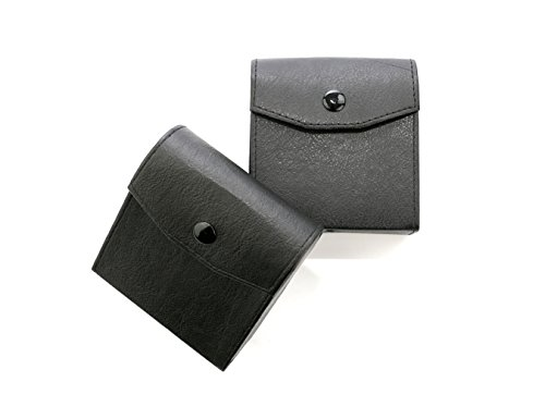 Domeye 2PC 3-Pocket Leather Lens Filter Case for Circular or Square Filters up to - Service Cleaning Lens Uk