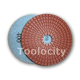 Toolocity 4fpdset-jx 4-Inch JX Shine Diamond Polishing Pad with Free Back Holder, Set of 8