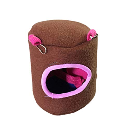 Floralby Hamster Squirrel House Bed Hammock Small Animals Pet Winter Warm Hanging Nest Cage Toy
